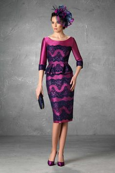 Mother of the Bride Dresses Esthefan and Party 2018 – Creating Trend – Entrenovi… Girls Dresses, Formal Dresses, Wedding Dresses, Bride Dresses, Formal Wear, Godmother Dress, Fairy Godmother, Fiesta Dress, Corporate Wear
