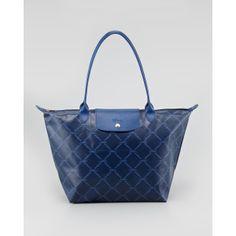 Longchamp LM Metal Large Shoulder Tote Bag