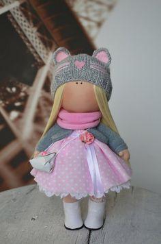 Tilda doll Handmade doll Rag doll Art doll Fabric doll