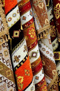 Kilims (cilim), traditional bosnian rugs; Bosnia: Mostar