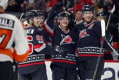Sebastian Aho's first career hat trick powers Hurricanes past Flyers