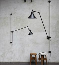 No214 | lampegras.fr | Vintage Industrial Lighting | Black | Stools | Wooden | Concrete | Loft Life | Original | Warehouse Home Design Magazine