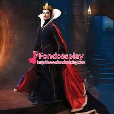 Free Shipping Disney snow white-The Evil Queen dress Olivia Wilde cosplay…