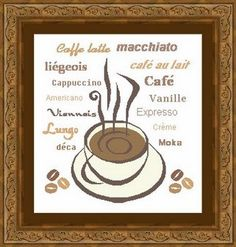 COFFEE/ cafe Counted cross stitch pattern by LudivinePointDeCroix, €4.00
