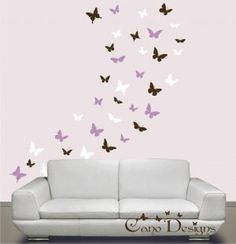 Vinyl Wall Clings for Teens | ... 36, 3 colors, removable vinyl wall decals, nursery, kids & teens room