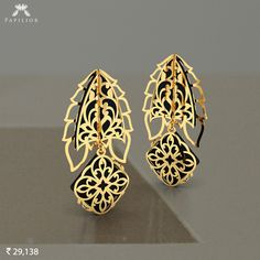 Quirky Murky #Gold #Earring are perfect examples of the quirky, playful, and unique.    #papilior #papiliorearring #goldearrings