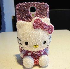 Kawaii!3D Bling Diamond Hello Kitty Case Cover Samsung Galaxy S4 S4G i9500 i9400