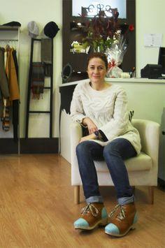 Beatriz Rapaza Ela Diz, clogs by Elena Ferro