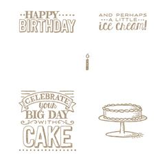 Big Day Stamp Set - by Stampin' Up! (C)#139112 or (W) #139109, 1/6/2015-3/31/2015 S-A-B, Free w/ $50 purchase.