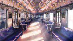 Anime scenery- train