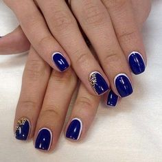 What do you ladies think about this blue nail design?