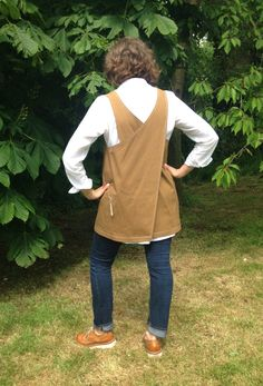 Japanese Style Apron Crossover Waterproof Tan by didyoumakeityourself on Etsy https://www.etsy.com/listing/236275731/japanese-style-apron-crossover