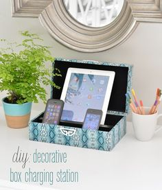 #diy decorative box charging station