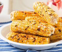 Grilled Corn with Honey-Ginger Barbecue Sauce
