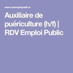 Auxiliaire de puériculture (h/f) | RDV Emploi Public