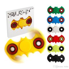 Bat Style Hand Spinner Fidget spinner Toys Plastic EDC Fidget Torpbar Spinner Novelty Gag Decompression Toys For Autism Toys
