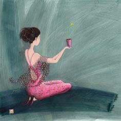 Gaelle Boissonnard Love and Friendship Card GB Marie Cardouat, Art Fantaisiste, Art Carte, Art Et Illustration, Art Moderne, Art Journal Inspiration, French Artists, Whimsical Art, Beautiful Artwork