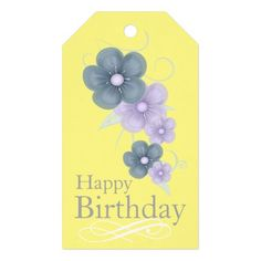 Floral Birthday Gift Tags
