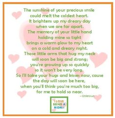 So it's a mommy poem! But it's so true!!
