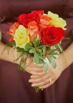 Wedding Flowers   Bouquets Roses, roses, roses .  #jardinfd #bouquet #flowers