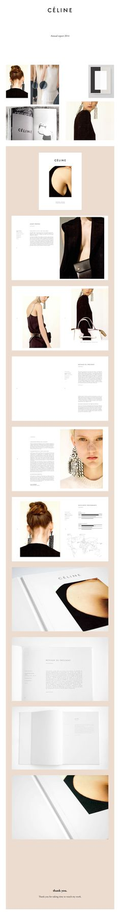 Céline - Annual report on Behance