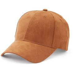 Women's Mudd® Faux Suede Baseball Hat (57 PLN) ❤ liked on Polyvore featuring accessories, hats, dark beige, ball cap hats, adjustable ball caps, baseball caps, adjustable baseball hats and baseball hats