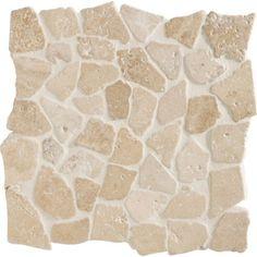 Galets sol et mur Opus ivoire