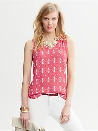 Graphic top from Banana Republic