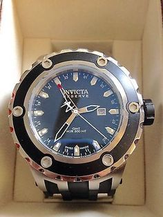 Invicta Reserve 6177 Specialty Subaqua Swiss GMT Black Poly Strap Mens Watch