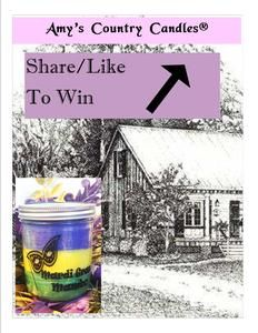 Enter to win a Mardi Gras Mambo candle from Amy's Country Candles™ valued at $20.50!!