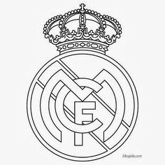 Plantilla del Escudo del Real Madrid.