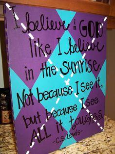 Scripture Canvas. $35.00, via Etsy.