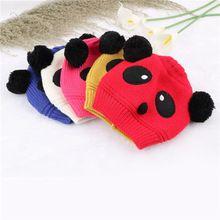 1x Hot Sale Encantadores Chapéus Do Bebê Panda Animais E Bonés Crianças Menino menina Crochet Cap Beanie Chapéus de Inverno Para As Crianças Para Se Aquecer Mais Novo(China (Mainland))