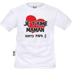 T-shirt enfant rigolo : je t'aime MAMAN - T-shirts enfant originaux/Rigolos - SiMedio.fr