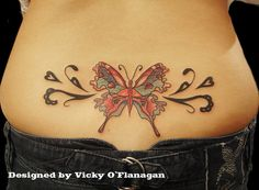 Beautiful Lower Back Tattoos For Women lower back beautiful butterfly . Butterfly Tattoos Images, Butterfly With Flowers Tattoo, Butterfly Tattoo Cover Up, Butterfly Tattoo On Shoulder, Butterfly Tattoo Designs, Tattoo Designs For Girls, Tattoo Chest And Sleeve, Lace Tattoo, Tattoo Hip