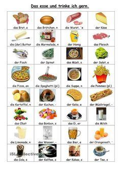 Alimentos en Alemán. German
