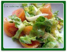 La cocina de Angie: ENSALADA CON ALIÑO FRANCÉS
