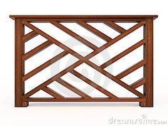Design wooden railing with balusters 3d model
