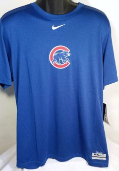 Chicago Cubs Nike Dri Fit T Shirt Mens Size Large #Nike #ChicagoCubs
