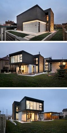 Modern style homes exterior modern house architecture styles beautiful designs inside modern contemporary exterior house design Modern Architecture House, Residential Architecture, Interior Architecture, Container Architecture, Modern House Plans, Modern House Design, Modern Exterior, Exterior Design, Casas Containers