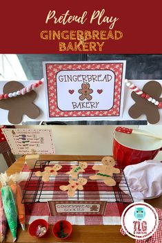 Gingerbread Bakery~Dramatic Play - My Winter Break 2020 Preschool Christmas, Christmas Activities, Christmas Themes, Kids Christmas, Xmas, Christmas Train, Christmas Baking, Dramatic Play Area, Dramatic Play Centers