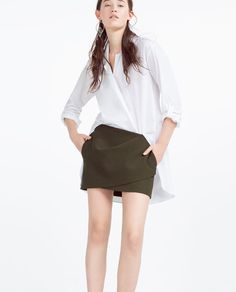 MINI DRAPED SKIRT