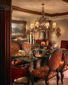Formal Dining Room Centerpiece Ideas Best Of Luxury Dining Room Interior Design by Perla Lichi Tuscan Dining Rooms, Elegant Dining Room, Luxury Dining Room, Dining Room Design, Tuscan Bedroom, Tuscan Style Decorating, Decorating Ideas, Tuscan Design, Decor Ideas