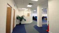 Space planning and #OfficeFitOut, including the installation of partitioning systems, a #kitchen tea-point space, #flooring and more at Performance Telecom Ltd in #StAlbans...