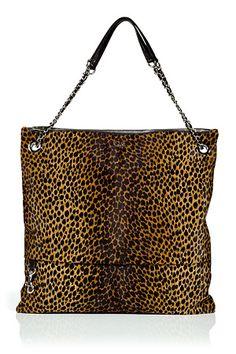Leopard Print Calf Hair Bag