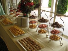 Dessert station in the Cypress Room.
