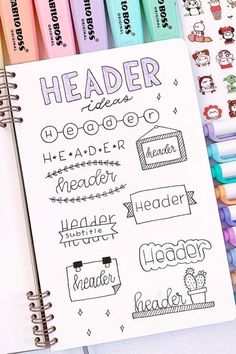 Best Bullet Journal Header & title-ideas for 2020 - Crazy Laura - The ulti. - Best Bullet Journal Header & title-ideas for 2020 – Crazy Laura – The ultimate collection o - Bullet Journal School, Bullet Journal Titles, Bullet Journal Banner, Bullet Journal Notebook, Bullet Journal Aesthetic, Bullet Journal Inspiration, Bullet Journal Writing Styles, Bullet Journal Numbers, Bullet Journal Fonts Hand Lettering