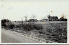 Circa 1969 vanaf de Bleekerweg op boerderij van Toon van den Broek, met links oefenterrein van paardenvereniging De Peelruiters Asten Heusden.