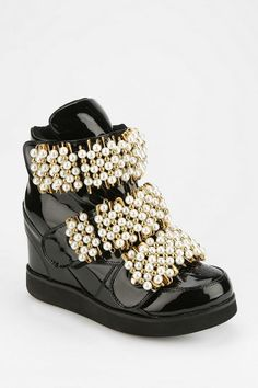 Jeffrey Campbell Beaded Hidden Wedge Sneaker - Urban Outfitters