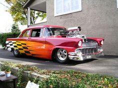 Pro Street Chevy Sedan